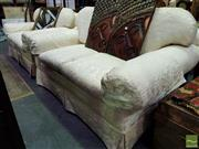 Sale 8545 - Lot 1041 - Pair of E. J. Victor Two Seater Sofas (055009, 055010)