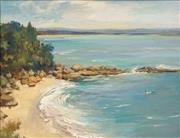 Sale 8573 - Lot 2011 - John Forsythe Baird (1902 - 1988) - Cabbage Tree Bay, Nora Head 33.5 x 43.5cm