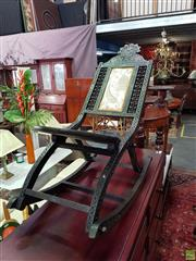 Sale 8566 - Lot 1354 - Carved Rocking Chair