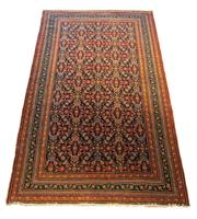 Sale 8630A - Lot 18 - A Cadrys vintage Caucasian Shirvan handspun knotted wool rug, 228 x134cm