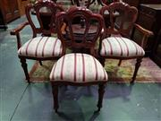 Sale 8657 - Lot 1010 - Set of Ten Reproduction Mahogany Dining Chairs with Upholstered Seat incl. Two Carvers