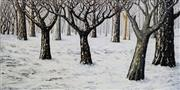 Sale 8683A - Lot 5121 - Peter Booth (1940 - ) - Winter 31 x 61.5cm (frame: 74.5 x 98.5cm)