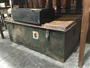 Sale 8740 - Lot 1542 - Rustic Metal Lift Top Trunk & Timber Example (2)
