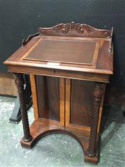 Sale 9051 - Lot 1077 - Rosewood Davenport with Inlaid Sections