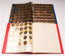 Sale 9119 - Lot 76 - A collection of Pennies in album together with others incl medallions