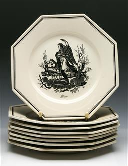 Sale 9144 - Lot 288 - Collection of cabinet plates dia 21cm