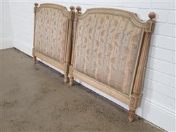 Sale 9255 - Lot 1335 - French style single bed ends (h:87 x w:87cm)