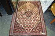 Sale 8161 - Lot 1046 - Rug in Red, White, Blue tones with floral decoration (159x112cm)