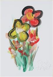 Sale 8781A - Lot 5022 - Kevin Charles Pro Hart (1939 -2006) - Floral Study 29 x 20.5cm