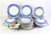 Sale 8894 - Lot 10 - The Booths Jacobean Blue Dinner Setting
