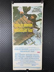 Sale 9003P - Lot 32 - Vintage Movie Poster - Breakheart Pass starring Charles Bronson in Alistair Macleans BreakHeart Pass