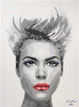 Sale 9135 - Lot 2024 - Stanley Clifford  Moda in Front acrylic on canvas, 120 x 90cm, signed and dated lower right -