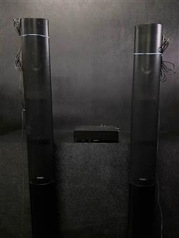 Sale 9254 - Lot 2096 - Sony TA-SA300WR wireless home theatre surround sound amplifier with Sony EZW-RT50 transceiver card and pair Sony SS-TSB114 speakers...