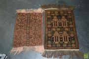 Sale 8506 - Lot 2096 - 2 Persian Prayer Rugs 58x43 & 69x49.5cm