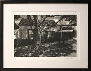 Sale 8734A - Lot 65 - Lynn Pearce - Out the Back, Lilyfield, 2015 48 x 61cm (frame size)