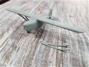 Sale 8809B - Lot 634 - Recognition Silhouette Spotter Aircraft Model of Unidentified Aircraft in Timber (wingspan 15cm)