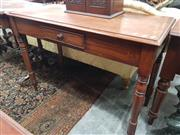 Sale 8917 - Lot 1047 - Victorian Mahogany Side or Hall Table, with short drawer & on turned legs