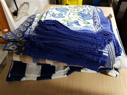 Sale 9176 - Lot 2271 - Placemats, Serviettes & Runners in Blue & White Tones