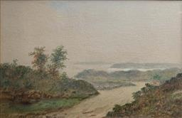 Sale 9214A - Lot 5017 - ROBERT RUSSELL (1808 - 1900) Port Jackson, 1841 watercolour 16.5 x 25 cm (frame: 37.5 x 46.5 cm) signed, dated and titled lower left