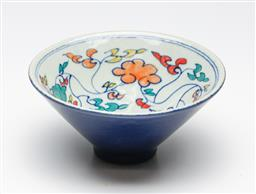 Sale 9253 - Lot 276 - A small floral decorated Chinese bowl (Dia:15cm)