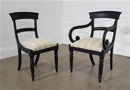 Sale 9255 - Lot 1110 - Painted timber carver and dining chair (h:86 x w:50 x d:45cm)