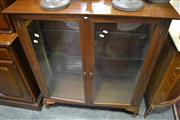 Sale 8031 - Lot 1098 - Glass Display Case on Cabriole Legs