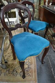 Sale 8093 - Lot 1316 - Set of 4 Cedar Balloon Back Chairs on Cabriole Legs (some restoration)