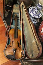 Sale 8100 - Lot 84 - Violin with a Beast Form Head in Case