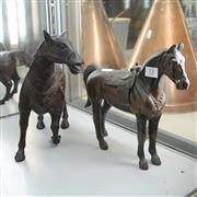Sale 8231 - Lot 53 - Bronze Saddled Horse Figure with Another Metal Horse Figure (damage to tail) (2)