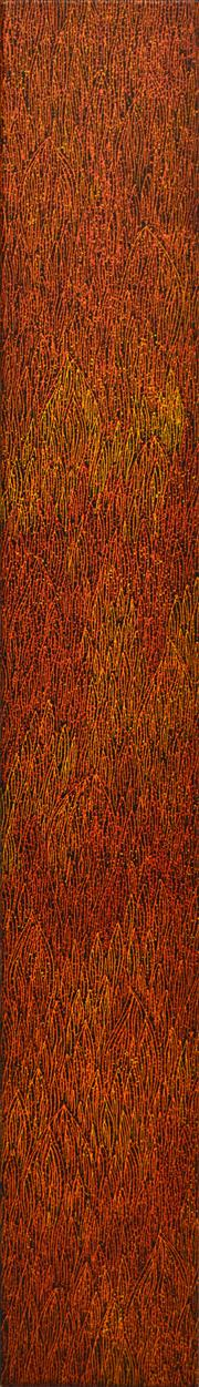 Sale 8321 - Lot 587 - Sarrita King (1988 - ) - Fire 151 x 22cm (framed & ready to hang)