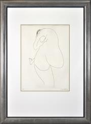 Sale 8401 - Lot 566 - Brett Whiteley (1939 - 1992) - Back View I 60 x 44.5cm