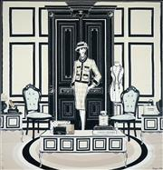 Sale 8511A - Lot 5068 - Megan Hess - The Coco Chanel Room 89.5 x 87.5cm (frame size: 111 x 108.5cm)