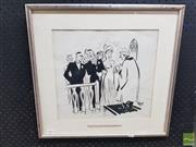 Sale 8548 - Lot 2062 - Framed Original Ink Cartoon