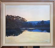 Sale 8636 - Lot 2014 - Griffith Minnamura at sunset oil on canvas 90 x 106cm signed lower right (Frame A/F)
