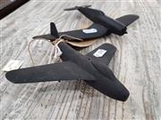 Sale 8809B - Lot 641 - Pair of Timber Recognition Silhouette Spotter Aircraft Model of Corsair and Another, wooden, in box (wingspan 15cm largest), damaged