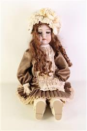 Sale 8940T - Lot 621 - Vintage German Doll marked Queen Louise to back (H65cm)