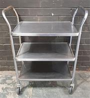 Sale 8971 - Lot 1071 - Chrome Serving Trolley (H:92 x L:72 x W:40cm)