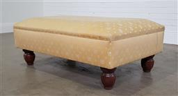 Sale 9255 - Lot 1268 - Upholstered ottoman on timber legs (h:43 x w:120 x d:76cm)