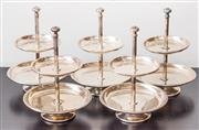 Sale 8279A - Lot 19 - A set of five two tiered petite four stand, height 25cm