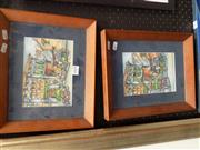 Sale 8422T - Lot 2009 - Pair of Framed Prints Signed Liong Penang