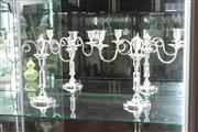 Sale 8024 - Lot 6 - Pair of Good Silver Plated Candleabras