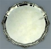 Sale 8139 - Lot 38 - Indian Silver Round Tray