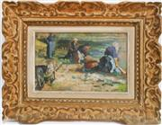Sale 8312A - Lot 82 - French Impressionist School - Washer Women 23 x 33 cm