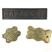 Sale 8545N - Lot 215 - Assorted Brass Plaques