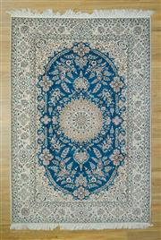 Sale 8585C - Lot 7 - Super Fine Persian Nain Silk Inlaid 231cm x 160cm