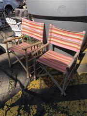 Sale 8801 - Lot 1515 - Pair of Bamboo Fold Out Chairs