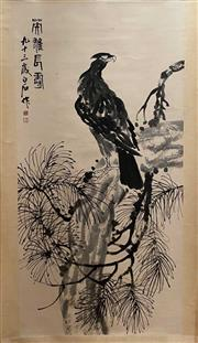 Sale 8951S - Lot 29 - Chinese Scroll of an Eagle, Ink and Colour on Paper