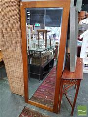 Sale 8469 - Lot 1088 - Timber Bevelled Edge Dressing Mirror