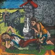 Sale 8497A - Lot 5088 - Thomas Hoareau (1961 - ) - At the Well, 1987 46.5 x 46.5cm