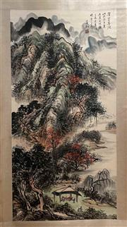 Sale 8951S - Lot 30 - Chinese Landscape Scroll, Ink and Colour on Paper